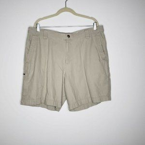 Columbia Mens Flat Front Khaki Shorts Size 40